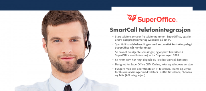 Telefonintegrasjon SuperOffice