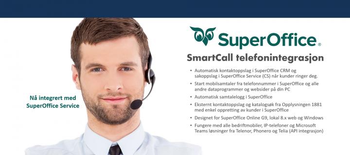 SuperOffice telefonintegrasjon