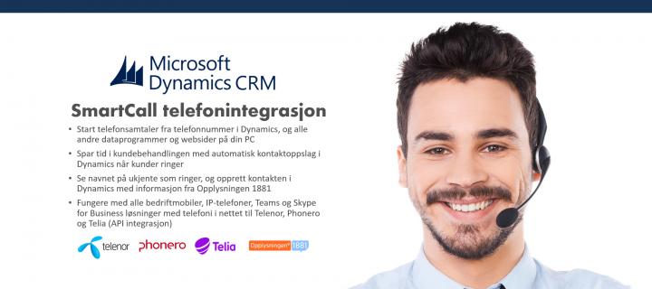 Telefonintegrasjon Microsoft Dynamics CRM